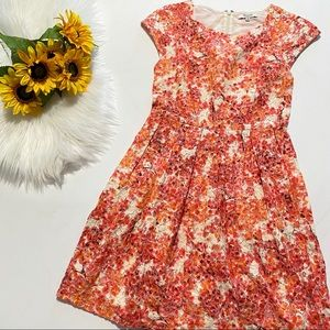 Madewell Painted Lacebloom Floral Dress